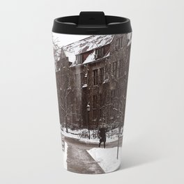 Snow Day on Campus Travel Mug