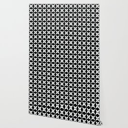 Geometric Pattern 247 (white crosses) Wallpaper