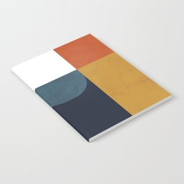 mid century abstract shapes fall winter 4 Notebook