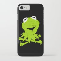 kermit iPhone & iPod Cases featuring Pochoir - Kermit by Krikoui