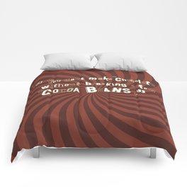 Funny Chocolate Sentence Comforters