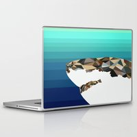 shark Laptop & iPad Skins featuring SHARK by Joan Horne