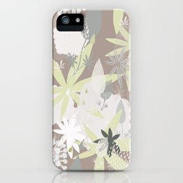 Lovely Lupins Seamless Repeating Pattern iPhone Case