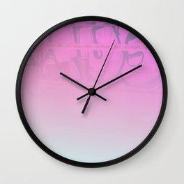 Concrete Flowers Wall Clock