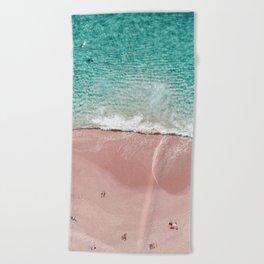 Pink Vacation Beach Towel