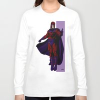 magneto Long Sleeve T-shirts featuring Magneto by Andrew Formosa