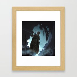Into the darkness Framed Art Print