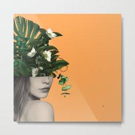 Lady Flowers Vlll Metal Print