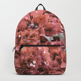 Coral Flowers Pattern Backpack