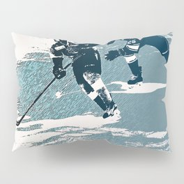 The Break- Away - Hockey Players Pillow Sham
