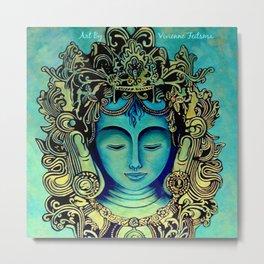 Green Tara Painting Metal Print