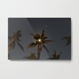 The Moon in a Palm Tree Metal Print