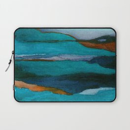 """""""a dark february redux1"""" abstract watercolor painting Laptop Sleeve"""