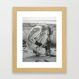 The Black Scarf Framed Art Print