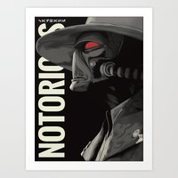 notorious Art Prints featuring Notorious by MORPHEUS