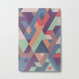 Geometric, Abstract, Shapes Metal Print