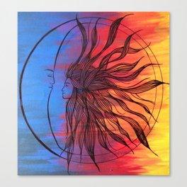 Sun and Moon Love Canvas Print
