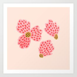 Painted Floral No. 22 Art Print
