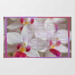 Calendar 2015 Orchids Rug