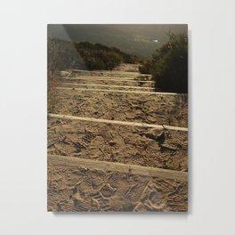 Footsteps lead the way Metal Print