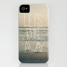 Let's Run Away by Laura Ruth and Leah Flores iPhone (4, 4s) Slim Case