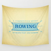 sport Wall Tapestries featuring A Competitive Sport. by Rabassa