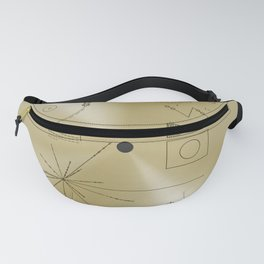 NASA space plaque: Voyager Golden Record (1977) Fanny Pack