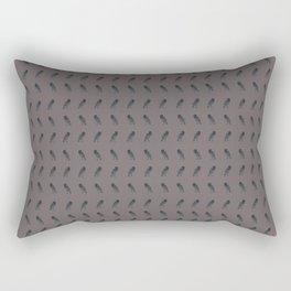 Purple Raven Print Rectangular Pillow