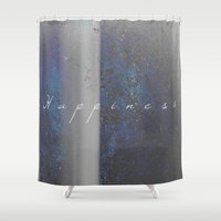happiness Shower Curtains featuring Happiness by Jane Lacey Smith