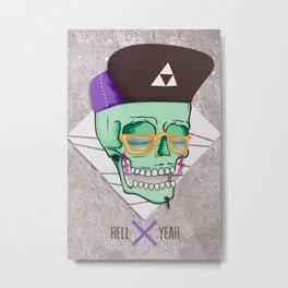 Hell Yeah Skull 3 Metal Print