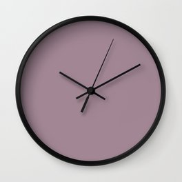 Solid Color Series - Desaturated Magenta Wall Clock