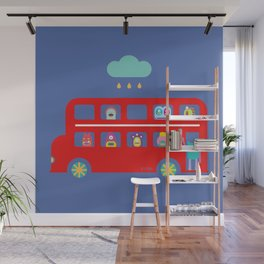 PINTMON_DOUBLE DECKER BUS Wall Mural