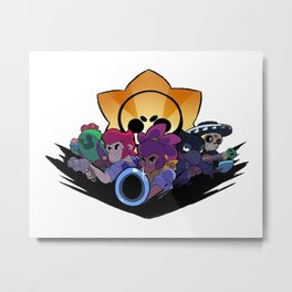 Spike, Colt, Shelly, Crow and Poco design | Brawl Stars Metal Print