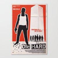 die hard Canvas Prints featuring DIE HARD by Alain Bossuyt
