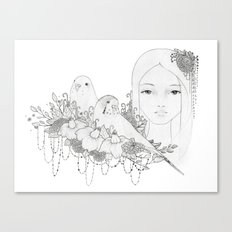 Budgie haven Canvas Print