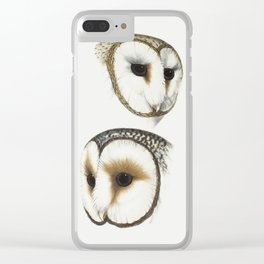 Masked Owl Clear iPhone Case