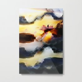 Chaos is a ladder Metal Print
