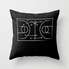Basketball tactic Throw Pillow