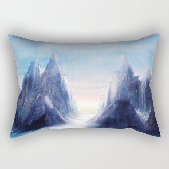 Over The Mountains III Rectangular Pillow