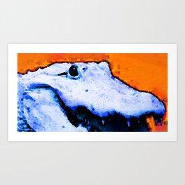 Gator Art - Swampy - Florida - Sharon Cummings Art Print