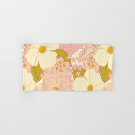 Pink Pastel Vintage Floral Pattern Hand & Bath Towel