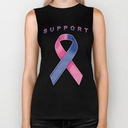 Pink and Blue Awareness Ribbon Biker Tank