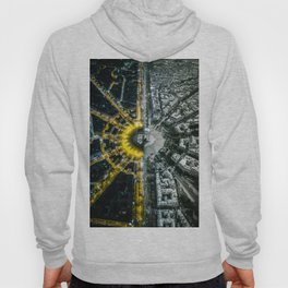 Night and day above Paris Hoody