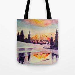 Winter Wonderland in Mount Rainer Tote Bag