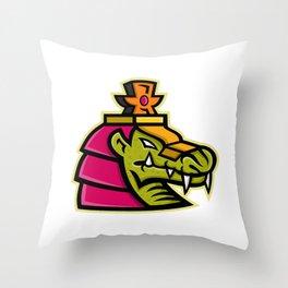 Sobek Egyptian God Mascot Throw Pillow