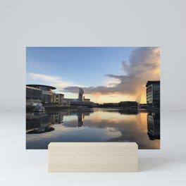 Manchester Salford Quays At Dusk Mini Art Print
