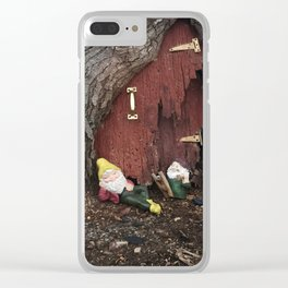 No Place Like Gnome  Clear iPhone Case