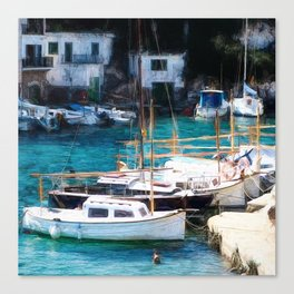 Espana Harbour Canvas Print