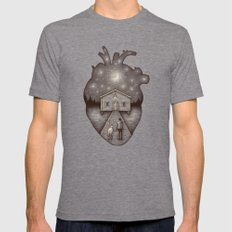 Finally Home Tri-Grey Mens Fitted Tee SMALL