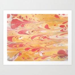 Yellow Marble Art Print